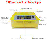 Wholesale Incubator Digital - 2017 Advanced 48 Eggs Incubator Mini Hatching Machine Full Digital Automatic Poultry Chicken Goose Duck Brooder
