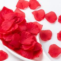 Wholesale Wholesale Red Silk Petals - Silk Rose Flower Petals for Wedding Table Decorations Event Party Supplies Multi Color Wreaths 100pcs set