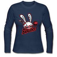 Wholesale Blue Brains - Halloween long sleeve tshirts brand new Autumn good cotton clothes for woman sexy slim shirt drop shipping Rabbit brain