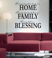 S5Q Hogar Familia Bendición Wall Sticker Pegatina Vinilo Desprendible Art Mural Decoración Decalques Letra Decorativa AAADCZ