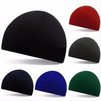 Wholesale Pinstripe Hats - 2016 Autumn winter woman warm hats pinstripe short style Hip Hop Beanies man hat Knitted peas caps snow Ski Cap Skullies Gorros
