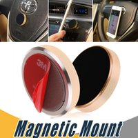Wholesale Mini Gps Device For Cars - Stick Magnetic Car Phone Holder Universal Mini Cell Phone Car Mounts For iPhone 7 6 Plus Samsung S8 S7 Plus Smartphones GPS Devices