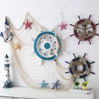 Wholesale Net Prop - Fishing Net Beach Personalized Ornaments Coastal Mediterranean Style Decoration Party Seashell Art Decor Wall Props Photography
