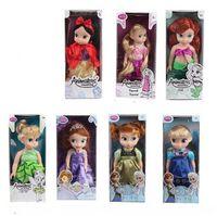 Wholesale Rapunzel Baby Doll - 12 16 inch 30 40cm Princess Animators Sharon Doll Princess Sofia Snow White Ariel Rapunzel Merida Cinderella Aurora Belle Princess dolls Gir
