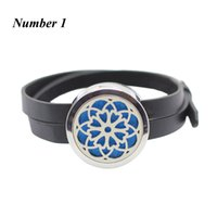 Wholesale 316l Stainless Steel Magnetic Clasp - New arrival! 316l stainless steel aromatherapy locket bracelet silver magnetic diffuser bracelet 30mm perfume locket bangle