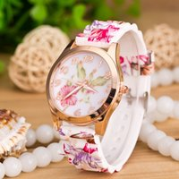 Wholesale Geneva Zebra Watches - 2016 Zebra Geneva Watch Silicone Ladies Women Watches Strap Jewelry Quartz Jelly kids Sport Wristwatches for Holiday gift