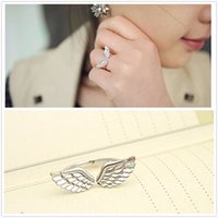 Wholesale Cheap Men Wedding Bands - G163 One Direction Hot Girl Bijoux 2016 New Fashion Angle Wing Finger Ring For Women Jewelry Wedding Accessories Cheap Rings Men