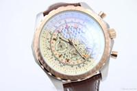 Wholesale Watch 49mm - 2017 49mm Breit RB043112.G775.756P.R20BA.1 Aerial quartz chronograph series Quartz Chrono sapphire Black ceramics Leather Strap Luxury Watch