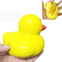 Wholesale Ducks Charms - Squishy Slow Rising Duck Squeeze Kawaii Cute Animal Samll Yellow Duck Phone Charms Kids Gift Toys