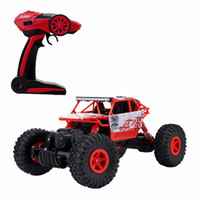 Vente en gros- RC Car 4WD 2.4GHz Rock Crawlers Rallye escalade 1:18 Voiture 4x4 Double Motors Bigfoot Voiture Modèle à distance Modèle Off-Road Vehicle Toy