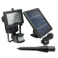 Wholesale solar powered pir floodlights resale online - Edison2011 Solar Powered Outdoor Led Garden Lights Leds PIR Body Motion Sensor Solar Floodlights Spotlights Solar Lamp Bulbs