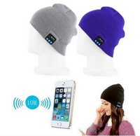 Wholesale Boxing Beanie - WITH RETAIL BOX Bluetooth Music Hat With Stereo Headset Speaker Wireless Hands-free Cap Outdoor Sports Smart Cap Headset DHL SHIPPING
