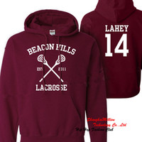 Wholesale Lacrosse Men - Wholesale-Allover Teen Wolf Beacon Hills Lacrosse Lahey 14 Hoodie Jumper pullover sweatshirt S-3XL TWHFT034TT