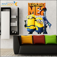 Wholesale Despicable Gru - Christmas Gift Despicable Me 2 Children Wall Stickers Gru Lucy Cartoon Kids Room Wall Decor Decals for Bedroom decoration