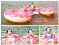 Wholesale Life Float Ring - Water Toys New Donut Swimming Float Inflatable Swimming Ring Swimming Pool for Children Life Buoy Beach PVC Toys Summer Toys