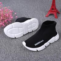 butik kız ayakkabıları toptan satış-Butik Çocuk sneakers boots erkek kız örme Atletik çorap ayakkabı spor ayakkabı toddler çocuk ayakkabı bebek koşu 1648