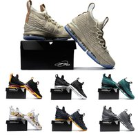 Wholesale Black Tennis Shoes Mens 12 - With original box AAA+ Quality Lebron 15 Basketball Shoes Arrival LBJ Sneakers 15s High Cut Mens Casual Shoes James 15 size US 7-12
