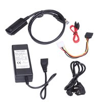 ide sata hdd adaptör dönüştürücü toptan satış-Freeshipping USB 3.0 IDE / SATA Adaptörü Dönüştürücü Kablosu Desteği 3 TB sabit disk için güç adaptörü ile 2.5