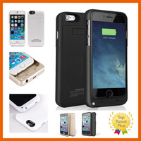 "Wholesale External Iphone Batteries - For iphone 7 External Battery Backup Power Bank Charger Cover Case Powerbank case for iPhone 6 6s Plus 4.7"" 5.5"" inch."
