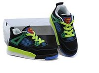 Wholesale Shoes For Children School - Free Shiping Cheap Children Athletic Retro Boys And Girls 4 IV Sneakers Kids Basketball Shoes New In Box For School Season