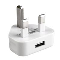 android зарядное устройство uk оптовых-UK Plug USB Зарядное Устройство Домашнее Зарядное Устройство Для Android Мобильных Смартфонов для iPhone Samsung HTC