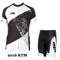 Wholesale Cream White Suits Men - 2017 ktm new style Cycling jerseys Short Bicycle Clothing Set Men Wear Suit Jersey Bib Shorts mtb bike clothing sport jersey bicycle clothes