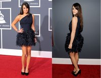 Wholesale Lea Michele - Lea Michele 52nd Grammy Evening Dress Red Carpet Short Celebrity Dress Formal Prom Party Event Gown