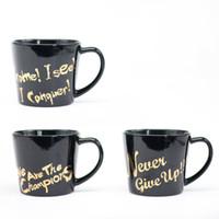 Wholesale letter mug - Ceramic Cup English Letter Gilding Coffee Mug Heat Resistant Drinkware Gift Many Styles Black 9 5qj C R