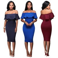 Wholesale Tube Dress One Piece - Nightclub Sexy Dress Women Tube Top Thin Package Hip Dresses High Quality Brand Design One-Piece Short Skirt Wholesale