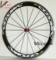 superficie de freno al por mayor-Superficie de frenado de aleación de carbono 50mm clincher C0SMIC ruedas de carbono 700C bicicleta de carretera clincher de aleación de carbono juego de ruedas