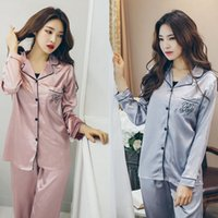 Wholesale Silk Satin Clothing - Women silk nightwear pyjamas nature silk home clothing sleeve winter sleepwear soft skin care high quality factory wholesale free shipping