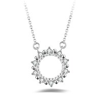 Wholesale wholesale jewelries - Lovely Cremation Jewelries Delicate Link Chain Vintage Pendant Necklaces Micro Pave CZ Silver Necklaces For Women YDHP146
