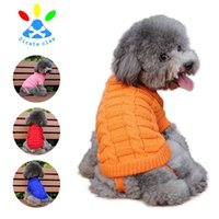 Wholesale knitted dog sweaters - Fashion Knitted Puppy Sweater Soft Comfortable Cartoon Pet Clothes Cold Proof Keep Warm Dog Sweaters Hot Sale 11ty B R