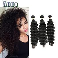 Wholesale Trade Brazilian Hair - ANNO Hair Trading Co.Ltd Deep Wave Brazilian Hair 7a Brazilian Wet and Wavy 3 Bundle Virgin Hair Bundle Deals Fashion