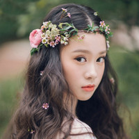 Wholesale Floral Head Wreaths - Beautiful Wedding Headpieces For Flower Girls New Arrival Free Size Kids' Accessories With Different Colors In Stock
