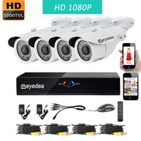 Wholesale Home Dvr Ch - Eyedea 8 CH 1080P Lite Remote View WiFi DVR Video Surveillance NVR Recorder 2.0MP Outdoor Night Vision CMOS Home CCTV Security Camera System