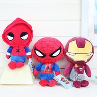 Wholesale Baby Doll For Mans - Hot Selling Spider Man Homecoming Plush Doll 6pcs lot plush toys Stuffed Animals Toy For Baby Christmas promotional Gifts Free shipping