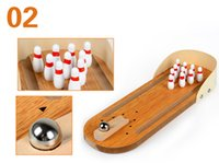 Wholesale Dhgate Designs - 2017 Hot New fashion toy creative designs Cute bowling balls desk toys Best Gift for children and Kids Wholesal DHgate CHEAPEST Top Quality