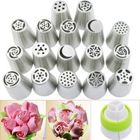 Wholesale Decorating Sets - High Quality 17Pcs DIY Russian Icing Piping Nozzles Tips Cake Decorating Pastry Baking Tool free shipping