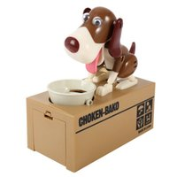 Wholesale Money Eating Piggy Bank - New Designer Puppy Hungry Eating Dog Coin Bank Money Saving Box Piggy Bank Children's Toys Decor Interesting Children's Gift