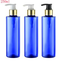 Wholesale Liquid Soap Bottles Wholesale - 250ml green body cream aluminum screw lotion pump cosmetic plastic bottles,250g liquid soap shampoo bottle with dispenser