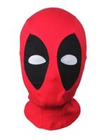 Wholesale funny face movie - Deadpool Mask Balaclava Hood Cosplay Costume Deathstroke Full Face Mask
