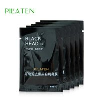 Wholesale seaweed whitening cream - 3200pcs  Lot PILATEN Suction Black Mask Face Care Mask Deep Cleaning Tearing Style Pore Strip Deep Cleansing Nose Acne Blackhead Facial Mask