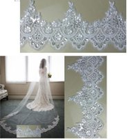 Wholesale cheap cathedral veils rhinestones - 2017 New Arrival Bling Bling Crystal Cheap Luxury Bridal Cathedral Bridal Veils Long Applique Beaded Custom-Made Wedding Veils