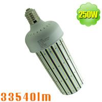 Wholesale mh hps bulbs - 360 Degree Corn Cob 250W LED Bulb 1000W HPS MH Equivalent E39 E40 Mogul Base Lamp Warehouse High Bay Replacement