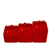 conjuntos de caja de joyería de terciopelo al por mayor-Exhibición de la joyería Caja de presentación Envío gratis Exhibición de la joyería de terciopelo rojo Pendientes de la torre del organizador del soporte Set 3pcs / Lot
