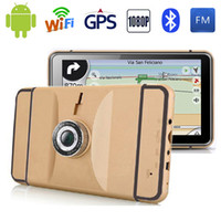 Wholesale HD inch Android GPS Navigation WIFI Bluetooth Quad core Tablet PC P Car DVR AVIN MB GB Truck Vehicle GPS Maps