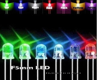 Wholesale 3mm led resistors - Wholesale- 500pcs 3mm 5mm Red Yellow Green Blue White LED Assortment Kit +1 4w Resistors