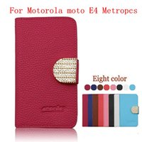 Wholesale Boost Cards Wholesale - For Motorola moto E4 Metropcs Boost G5 PLUS LG STYLO 3 plus Stylus 3 leather Diamond case Cover With credit card slots