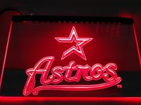 LD135r- Houston Astros Baseball Bar LED Neon Light Sign